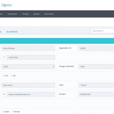 Skyindya Web Development Work - Edelweiss Oyster App