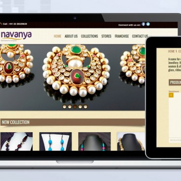 Skyindya Web Design Work - Navanya
